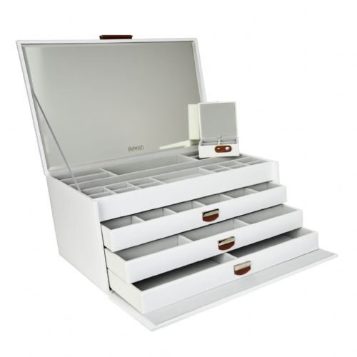 71109 Dulwich Designs  White Extra Large Notting Hill Jewellery Box